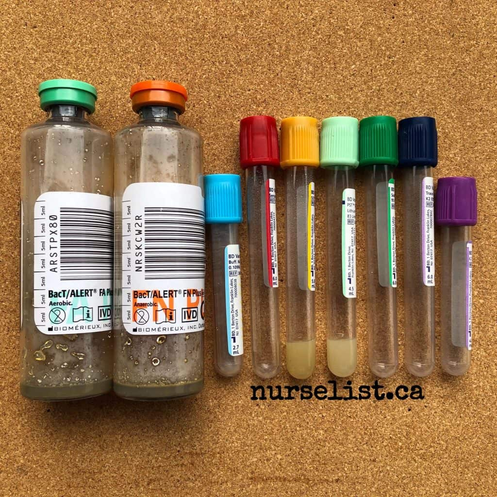 Order of draw tubes