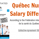 quebec nurse salary difference