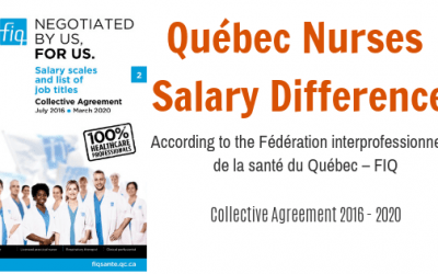 Quebec Nurse Salary – Salary Difference of RN and LPN