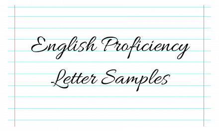 CNO English Proficiency Letter Samples