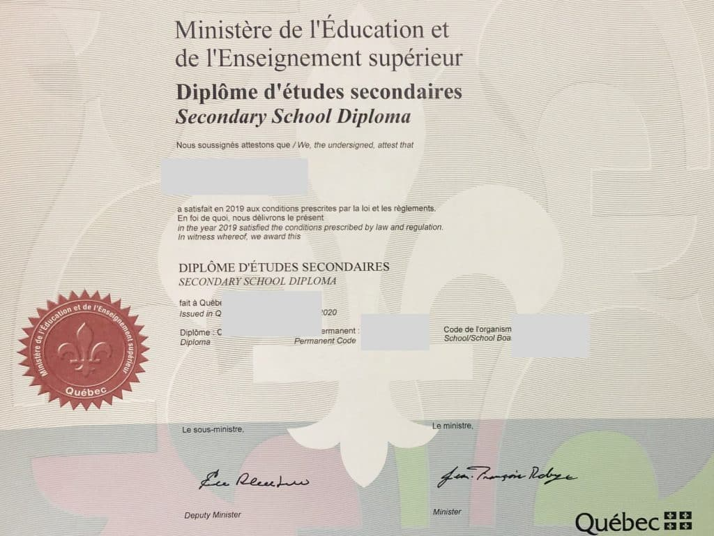 how to get a Highschool Diploma for Nurses in Montreal